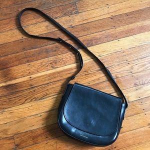 Black leather Mansur Gavriel crossbody bag